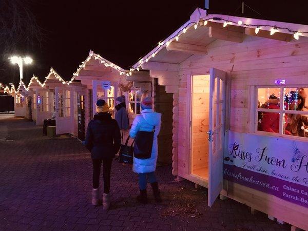 Shopping Village at Aurora Winter Festival