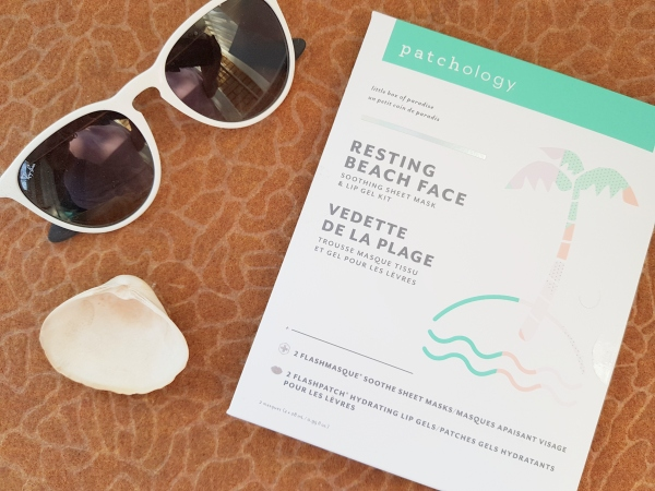 Patchology Resting Beach Face Soothing Sheet Mask and Lip Gel Kit