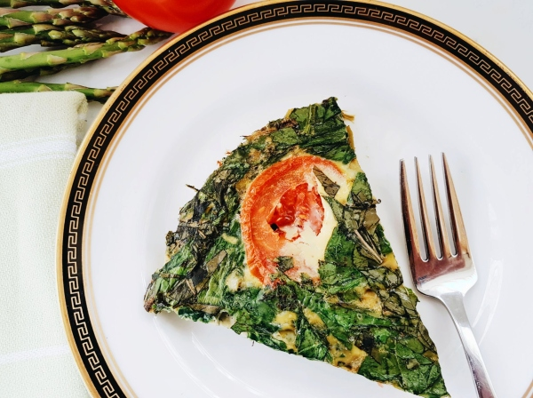 Roasted Asparagus and Spinach Frittata is an elegant brunch option.