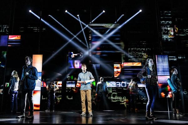 Canadian cast of Dear Evan Hansen at Royal Alexandra Theatre, photo Matthew Murphy 2019