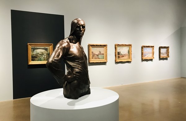 Constantin Meunier's Longshoreman at Impressionism in the Age of Industry: Monet, Pissarro and more