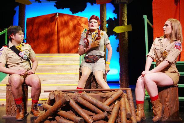 Tony Tran as Paul / Wise Gazelle, Pearle Harbour as Candace Matchwick, Terri Pimblett as Nicole / Ladybeetle in Retreat at Hart House Theatre