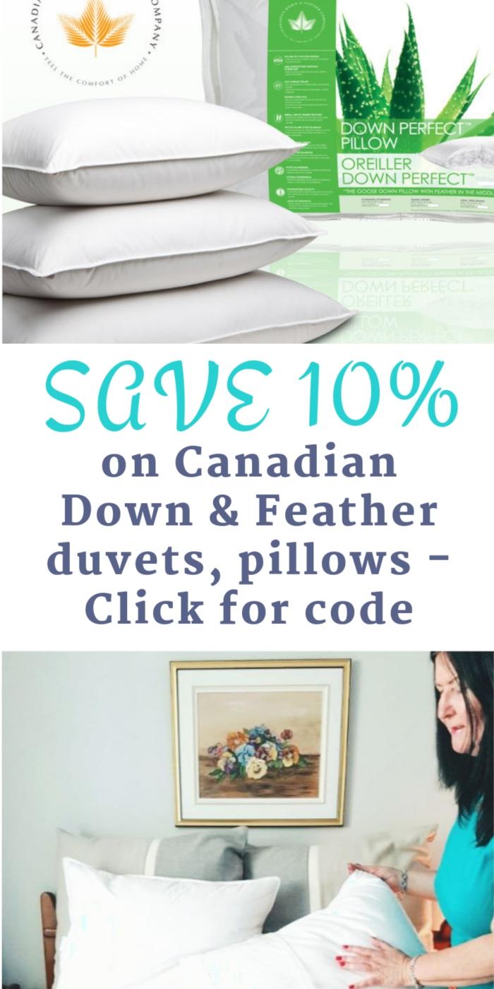 Canadian Down duvets pillows code
