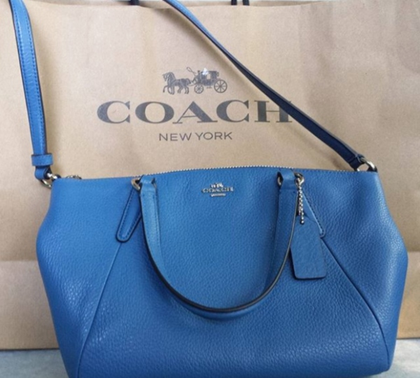 Coach blue crossbody I purchased at Toronto outlet malls.