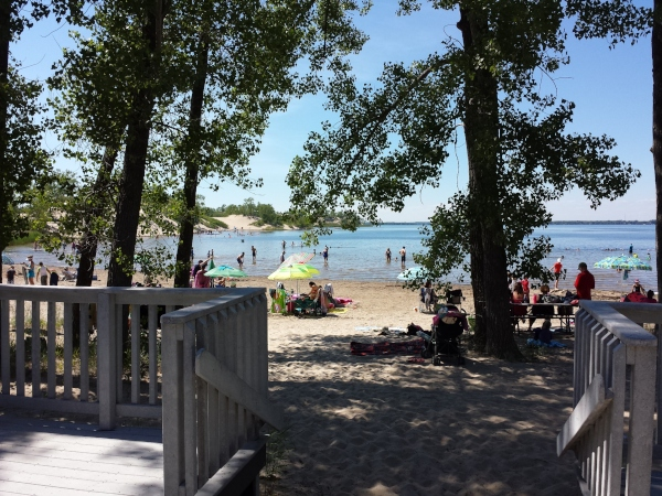 Dunes Beach, Sandbanks Provincial Park is one of the most popular staycations in Ontario.