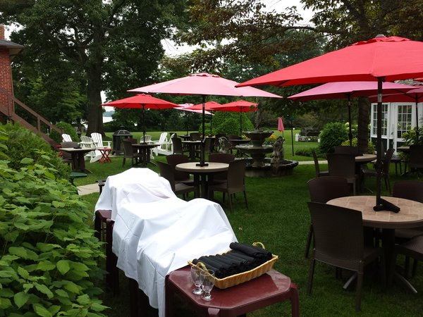 Patio at The Briars Resort, Jackson's Point