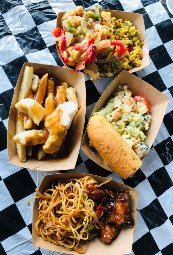 Poutine, pasta and salads at Canada's Wonderland