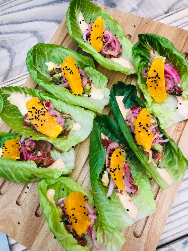 Ahi lettuce wraps at The Parlour on King Street West in Toronto.