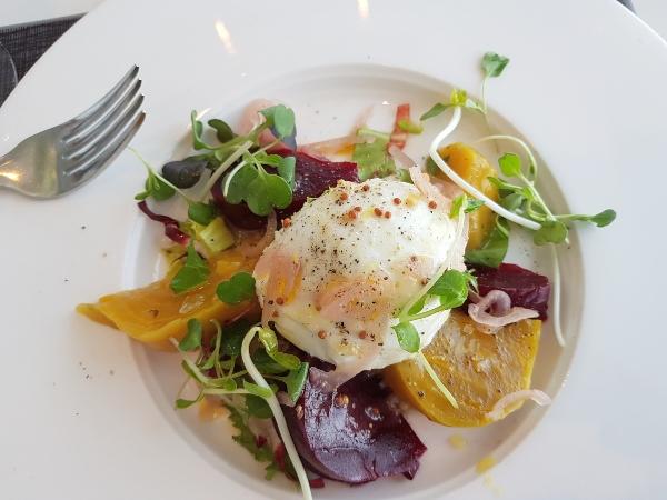 Local Beet & Buffalo Mozzarella Salad at 360 Restaurant at CN Tower