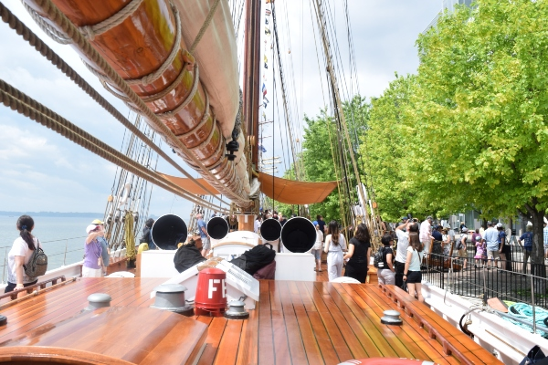 On the Bluenose II at Redpath Waterfront Festival 2019 in Toronto