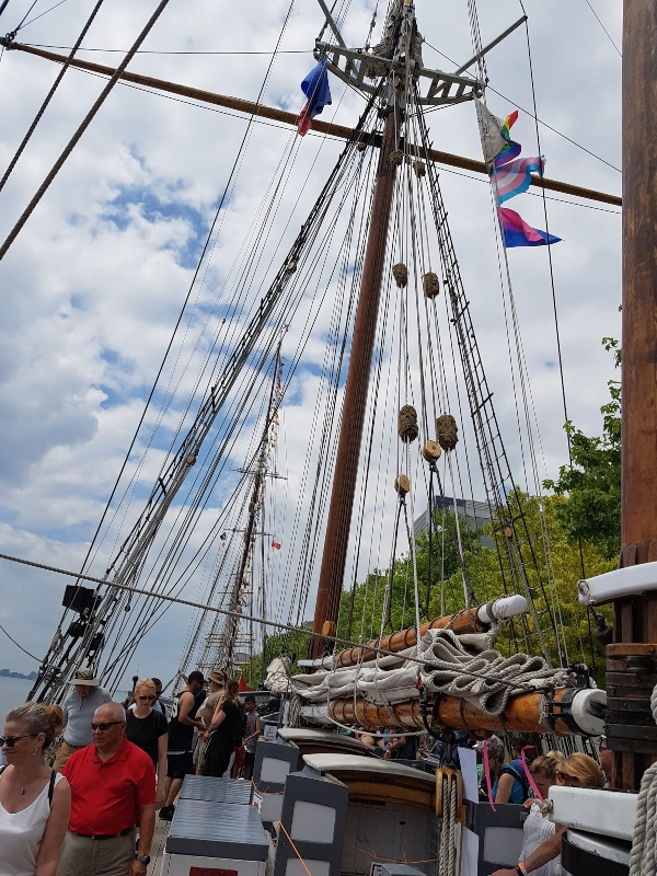 The mast on Denis Sullivan at Redpath Waterfront Festival 2019 in Toronto