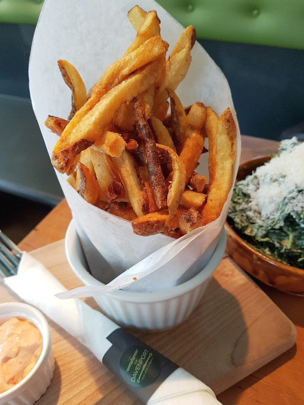 Two Potato Fries with Chipotle Mayo at The Davenport Pub in Toronto