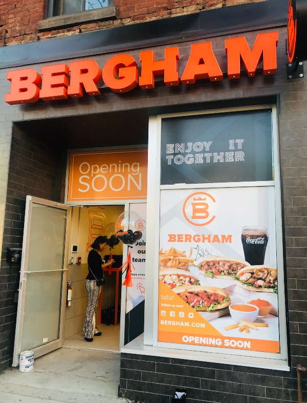 Store front at Bergham on Queen Street West