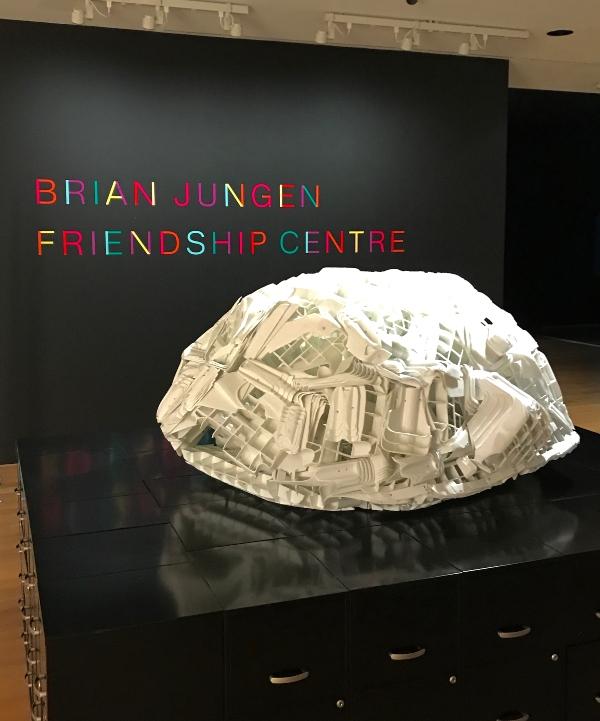 Tombstone at Brian Jungen exhibit at Art Gallery of Ontario