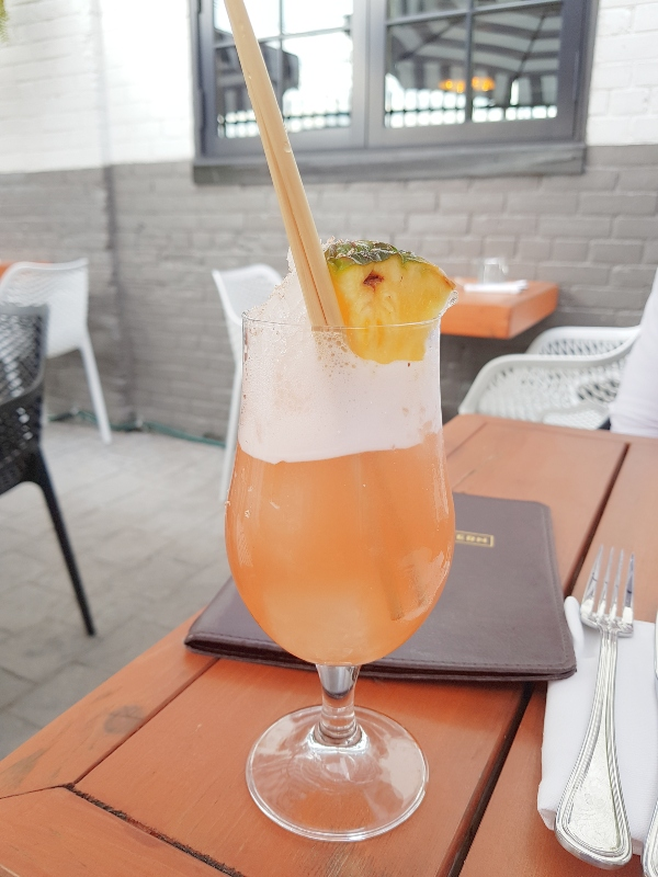 Champagne Cobbler at Maple Leaf Tavern patio