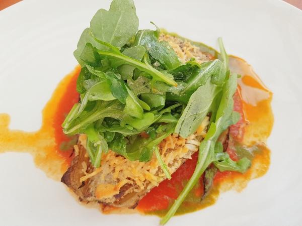 Grilled Fennel Salad at Maple Leaf Tavern patio in Toronto
