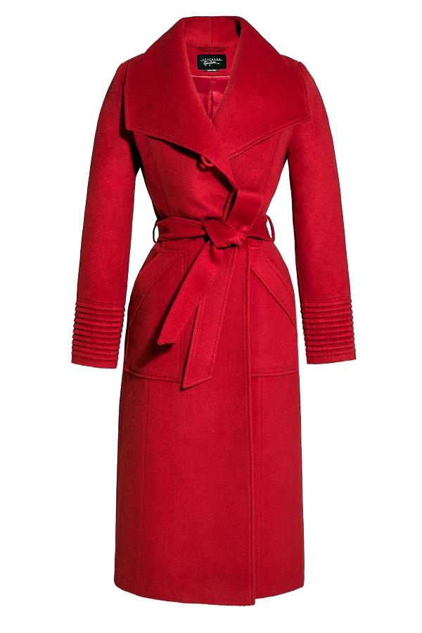 Long Wide Collar Wrap Coat from SENTALER