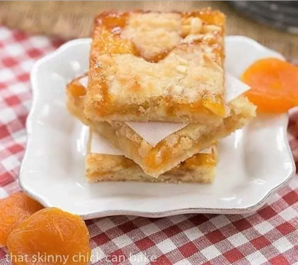 Coconut Apricot Bars recipe by That Skinny Chick Can Bake are some of the best bar cookies for Christmas holidays.