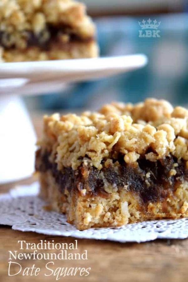 Newfoundland Date Squares from Lord Byron's Kitchen are one of the best bar cookies for Christmas.