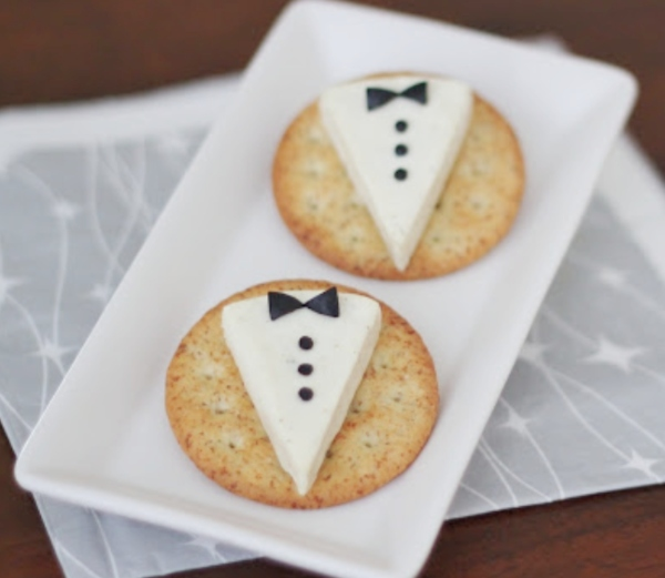 Cheese and Cracker Tuxedos from cutefoodforkids.com