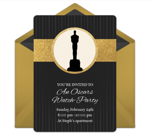 Oscar Viewing Party Invitation from Punchbowl
