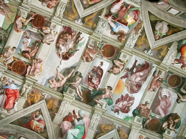 You can tour The Sistine Chapel on virtual tours while self-isolating, photo Wikimedia Commons