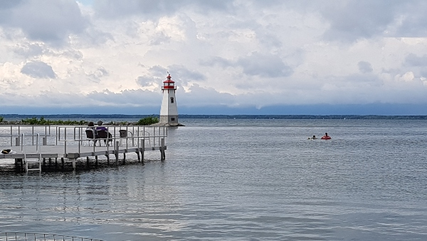 Jackson's Point Lighthouse viewed from the waterfront at Ramada Jackson's Point