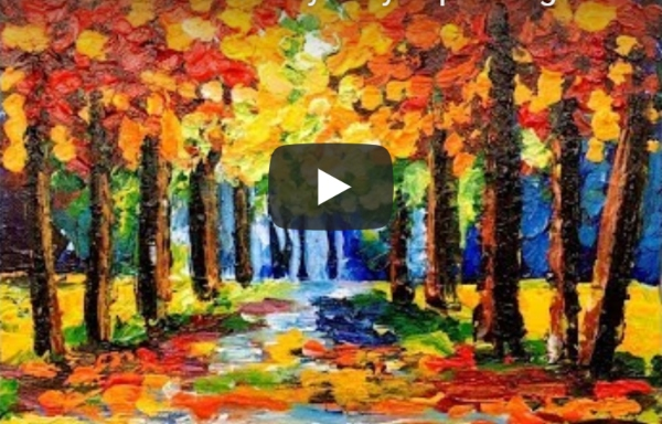 Color Walk Forest Easy Acrylic Painting by The Art Sherpa
