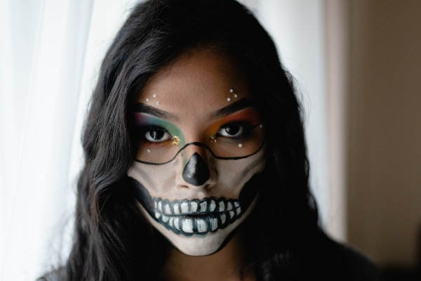 This face mask is perfect for Halloween. Find out where to buy Halloween costumes in Toronto.