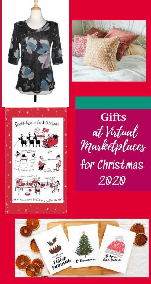Gifts from Virtual Holiday Marketplaces for Christmas 2020