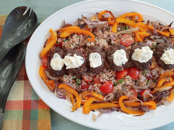 Turkish Beef Kofta by Chefs Plate is a healthy and tasty Mediterranean dinner.