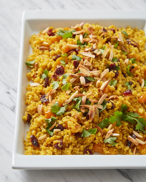 """Cauliflower """"Couscous"""" with dried fruit and almonds from Rose Reisman's Meal Revolution"""
