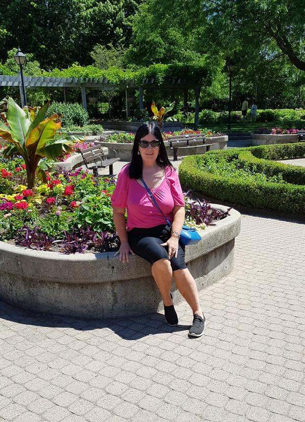 Me at Rosetta McClain Gardens in Toronto