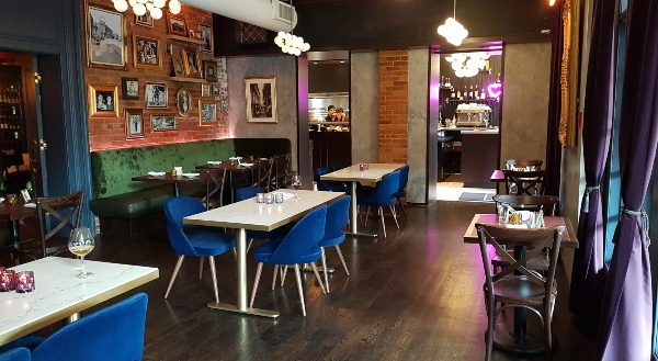 Dining room at Zitto Zitto Taverna on College Street.
