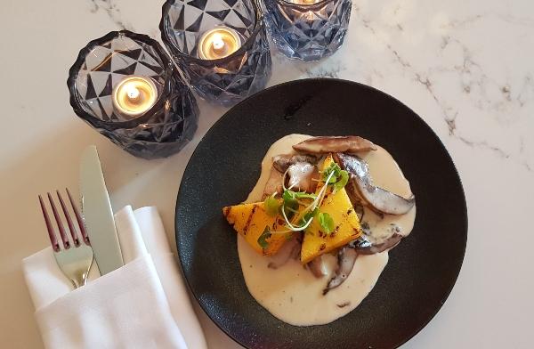 Mixed Mushrooms in a Gorgonzola Cream Sauce at Zitto Zitto Taverna