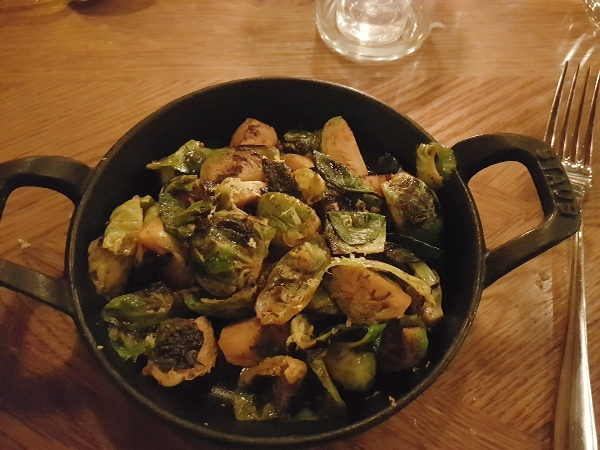 Roasted Brussels Sprouts with aji panca and soy at Baro Restaurant on King Street West.