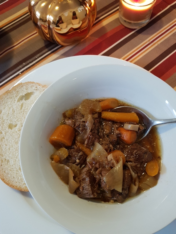 Beef Stew with Carrots, Onion and Celery